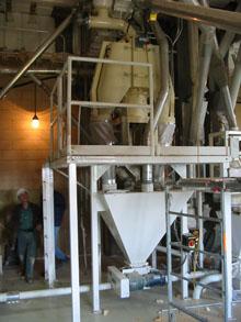 Ferkar mill installed on metal construction.
